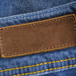 Stock Photo: Jeans Leather Tag