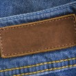 Jeans Leather Tag - Stock Photo