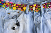 Girlish jeans — Stock Photo