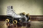 Vintage tekerlekli paten — Stok fotoğraf