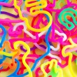 Colorful rubberbands - Stock Photo
