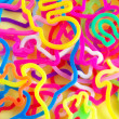 Colorful rubberbands - Stockfoto