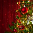 Christmas Tree Detail - Stock Photo