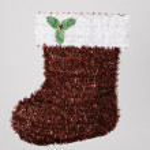 Santa Christmas Stocking White Red Green — Stock Photo #7146668