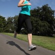 Summer exercise running outdoors for young woman — Stock Photo #6967883