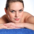 Beautiful woman in health spa for beauty treatment — Stock Photo
