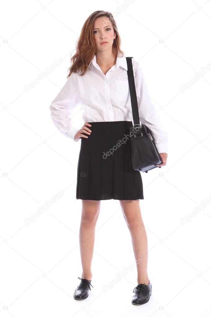 how to look thin in school uniform