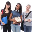 Three teenage ethnic student girls in education — Stock Photo #7127262