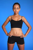 Fit athletic african american sports woman torso — Stock Photo