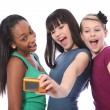 Teenage girls fun self portrait photography — Stockfoto #7256121