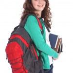 High school happy teenage student girl big smile — Stock Photo #7668529