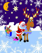 Санта Клаус. Рождество. Santa Claus. Christmas. — Foto de Stock