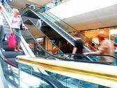 Golden escalators — Stock Photo