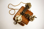 Vintage Telephone from top — Stock Photo