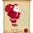 Santa Claus and bag with gifts — Stock Vector
