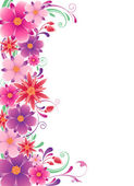 Floral background with ornament — Stock Vector