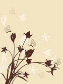 Abstact floral con tulipanes — Vector de stock