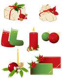 Set of vector Christmas icons — Stock vektor