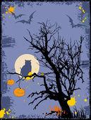 Halloween grunge bakgrund — Stockvektor