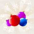 Background with Christmas decorations — Imagen vectorial