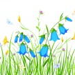 Royalty-Free Stock Vector Image: Floral background with blue and yellow flowers