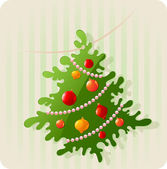 Background with Christmas tree — Vector de stock