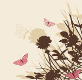 Blumen hintergrund mit klee-blumen — Stockvektor