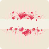 Floral background with roses — Stock Vector