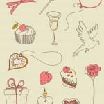 Doodle Valentine — Stock vektor #7359242