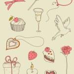valentine doodle — Stockvector  #7359242