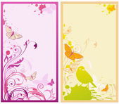 Vector floral backgrounds — Cтоковый вектор