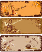 Set of coffee banners — Stock Vector