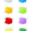 Set of  vector cracks — Stock Vector