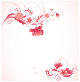 Background with red flowers — Stock Vector