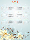Calendario para el 2012 — Vector de stock