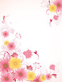 Floral background with pink flowers — Stock Vector