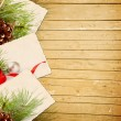 Wooden Christmas background — Stock Photo
