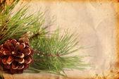 ビンテージ クリスマス背景 — ストック写真