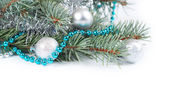 Christmas background with fir branch — Stok fotoğraf