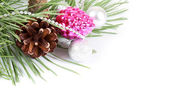 Christmas background with decoration — Stock Photo