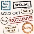 Sale titles — Stock Vector #6761705