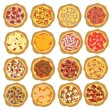 Pizza set — Stock Vector