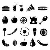 Iconos negros — Vector de stock