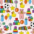 Toys pattern — Vector de stock #7226968