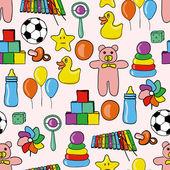 Speelgoed patroon — Stockvector