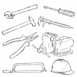 Tools set - Imagen vectorial