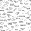 Food pattern — Vector de stock #7304451