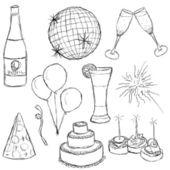 Parti koleksiyonu — Stok Vektör
