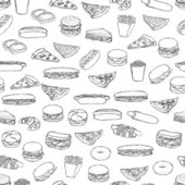 Food pattern — Stok Vektör