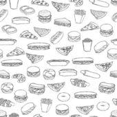 Wzór jedzenie — Wektor stockowy